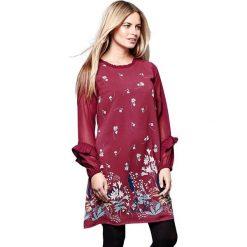 Długie sukienki: Krótka sukienka z kwiatowym nadrukiem, rozszerzana, rozkloszowana