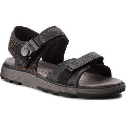 Sandały CLARKS - Un Trek Part 261326127  Black Leather. Czarne sandały męskie skórzane Clarks. W wyprzedaży za 259,00 zł.