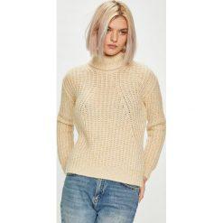 Guess Jeans - Sweter Sveva. Szare swetry klasyczne damskie Guess Jeans, l, z jeansu. Za 599,90 zł.