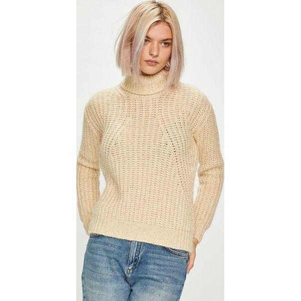 2490904bbcc87 Guess Jeans - Sweter Sveva - Szare swetry klasyczne damskie marki ...