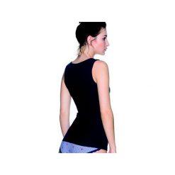 Koszulka damska - LA/MA - L-1222VE. Szare bluzki z odkrytymi ramionami marki Lama, l, w prążki, z bawełny. Za 40,00 zł.