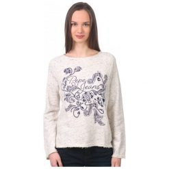 Pepe Jeans Bluza Damska Beatriz M Kremowy. Białe bluzy damskie marki Pepe Jeans, m, z jeansu. W wyprzedaży za 179,00 zł.
