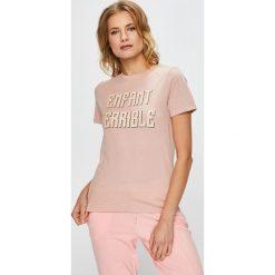 Undiz - Top piżamowy. Szare piżamy damskie marki Undiz, l, z nadrukiem, z bawełny. W wyprzedaży za 39,90 zł.