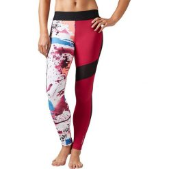 Reebok Spodnie damskie Elite Tight czerwone r. S (BK1907). Szare spodnie sportowe damskie marki Reebok, l, z dzianiny, z okrągłym kołnierzem. Za 217,48 zł.