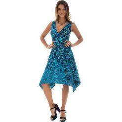 Odzież damska: Sukienka w kolorze turkusowo-niebieskim