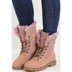 Buty zimowe damskie: Różowe Traperki Voguish