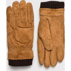 Jack & Jones - Rękawiczki skórzane. Brązowe rękawiczki męskie Jack & Jones, z materiału. W wyprzedaży za 179,90 zł.