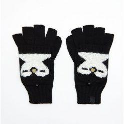 Rękawiczki bez palców - Czarny. Czarne rękawiczki damskie Cropp. Za 39,99 zł.