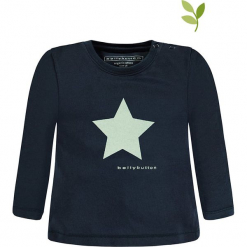 Koszulka w kolorze granatowym. Niebieskie t-shirty chłopięce z długim rękawem bellybutton, z nadrukiem, z bawełny. W wyprzedaży za 32,95 zł.