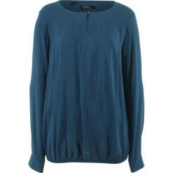 Bluzki damskie: Bluzka z gumką, długi rękaw bonprix ciemnoniebieski