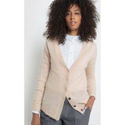 Sweter rozpinany. Szare kardigany damskie marki La Redoute Collections, m, z bawełny, z kapturem. Za 151,20 zł.