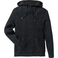 Swetry męskie: Sweter z kapturem Regular Fit bonprix antracytowy melanż