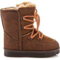 Buty zimowe chłopięce: CIEPŁE ŚNIEGOWCE Z WIĄZANIEM