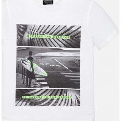 Mayoral - T-shirt dziecięcy 128-172 cm. Szare t-shirty męskie z nadrukiem Mayoral, z bawełny. Za 64,90 zł.