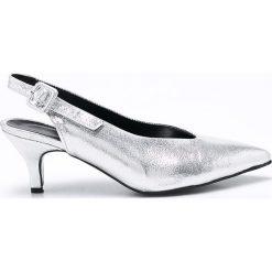Trendyol - Czółenka. Szare buty ślubne damskie marki Trendyol, z materiału, na obcasie. W wyprzedaży za 99,90 zł.