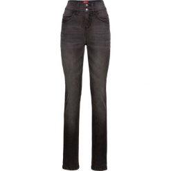 """Dżinsy """"komfort-stretch"""", z wysoką talią SLIM bonprix czarny. Niebieskie jeansy damskie slim marki Sinsay, z podwyższonym stanem. Za 89,99 zł."""