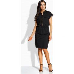 Sukienki balowe: Kobieca elegancka sukienka z kieszonkami czarny