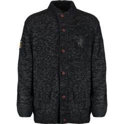 Swetry rozpinane męskie: Santa Monica BAINES Kardigan charcoal marl