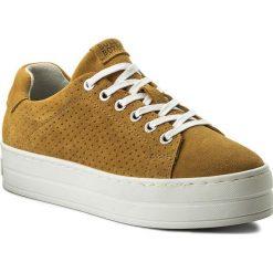 Sneakersy BULLBOXER - 987000E5C Yell. Żółte sneakersy damskie Bullboxer, z materiału. W wyprzedaży za 199,00 zł.