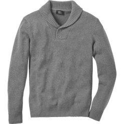 """Swetry męskie: Sweter """"Slim fit"""" bonprix szary melanż"""