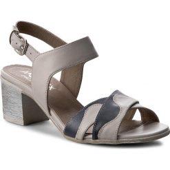 Rzymianki damskie: Sandały ANN MEX – 8028 11S+05S Szary
