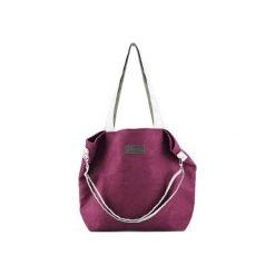 Duża torba typu shopper Mili Duo MD1 - burgund. Czerwone shopper bag damskie Militu, w paski, duże. Za 189,00 zł.