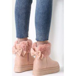 Buty zimowe damskie: Różowe Sniegowce Do Ya Think