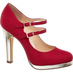 Czółenka damskie Catwalk czerwone. Czerwone buty ślubne damskie Catwalk, z materiału, na obcasie. Za 99,90 zł.