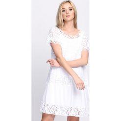 Sukienki: Biała Sukienka Pink Marshmallow