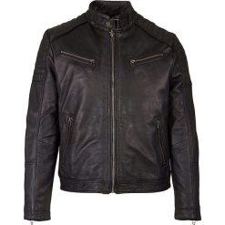Kurtki męskie: Skórzana kurtka w kolorze czarnym