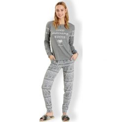 Piżamy damskie: Włoska piżama damska Winter Grey