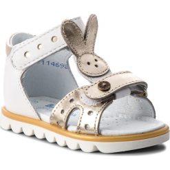 Sandały dziewczęce: Sandały BARTEK – 31491/NAH Biało Złoty