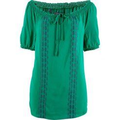 Tunika, krótki rękaw bonprix zielony miętowy. Zielone tuniki damskie bonprix, z krótkim rękawem. Za 74,99 zł.