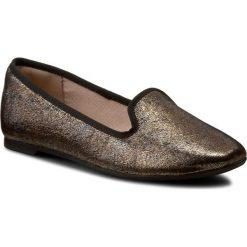 Lordsy CLARKS - Chia Milly 261217404 Bronze Metallic. Żółte lordsy damskie Clarks, ze skóry. W wyprzedaży za 219,00 zł.