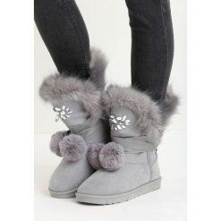 Szare Śniegowce Ice Queen. Szare buty zimowe damskie Born2be, z futra. Za 99,99 zł.