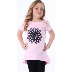 Sukienki dziewczęce: Tunika z kwiatem jasnoróżowa NDZ8210