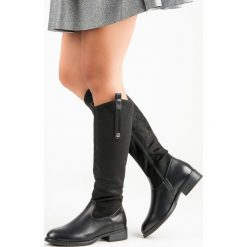Buty zimowe damskie: KLASYCZNE CZARNE KOZAKI