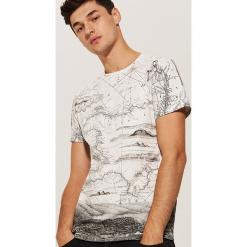 T-shirt z nadrukiem all over - Kremowy. Białe t-shirty męskie z nadrukiem House, l. Za 49,99 zł.