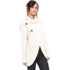 """Kardigan """"Stone"""" w kolorze beżowym. Brązowe kardigany damskie marki Cosy Winter, s, ze splotem. W wyprzedaży za 181,95 zł."""