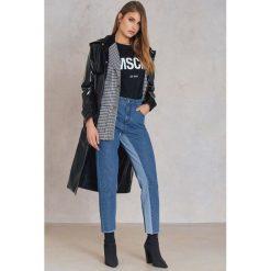 Qontrast X NA-KD Jeansy w dwóch odcieniach z wysokim stanem - Blue. Niebieskie boyfriendy damskie Qontrast x NA-KD, z podwyższonym stanem. W wyprzedaży za 81,18 zł.