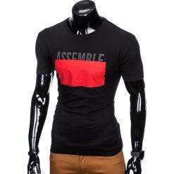 T-SHIRT MĘSKI Z NADRUKIEM S924 - CZARNY. Czarne t-shirty męskie z nadrukiem Ombre Clothing, m. Za 29,00 zł.