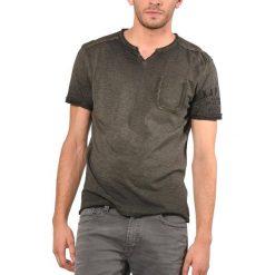 T-shirty męskie: Gładki T-shirt z dekoltem w serek i krótkim rękawem