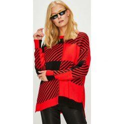 Trendyol - Sweter. Czerwone swetry oversize damskie Trendyol, l, z dzianiny. Za 99,90 zł.