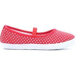 Czerwone Tenisówki Jump 'N' Run. Czerwone trampki chłopięce Born2be, na lato, z materiału, z okrągłym noskiem. Za 24,99 zł.