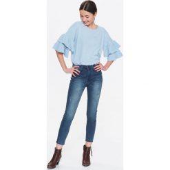 Spodnie damskie: SPODNIE JEANSOWE DAMSKIE, RURKI