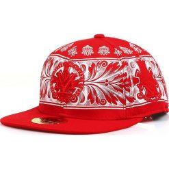 Czapka męska snapback czerwona (hx0278). Czerwone czapki z daszkiem męskie marki Dstreet, z haftami, eleganckie. Za 69,99 zł.
