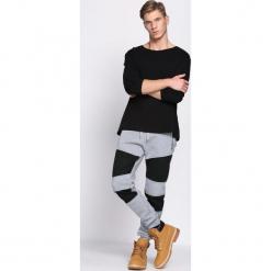 Szare Spodnie Dresowe Rush. Czarne spodnie dresowe męskie marki Born2be, l, z aplikacjami, z dresówki. Za 49,99 zł.