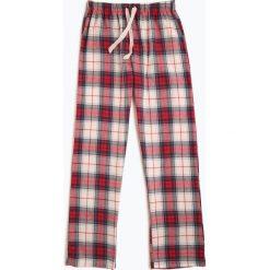 Franco Callegari - Damskie spodnie od piżamy, beżowy. Piżamy damskie Franco Callegari, s, w kratkę, z bawełny. Za 59,95 zł.