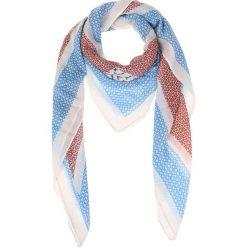 Chusty damskie: Chusta w kolorze niebiesko-biało-czerwonym – 105 x 105 cm