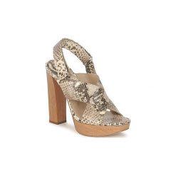 Sandały Michael Kors  MK18072. Brązowe sandały trekkingowe damskie marki Michael Kors. Za 1743,20 zł.